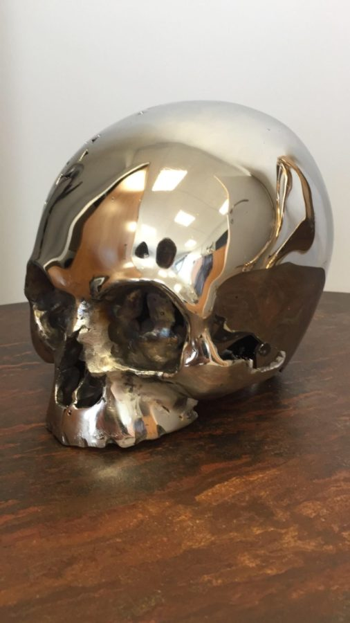 """Skull"", created by Kevin Oyen, designer and artisan metalworker"