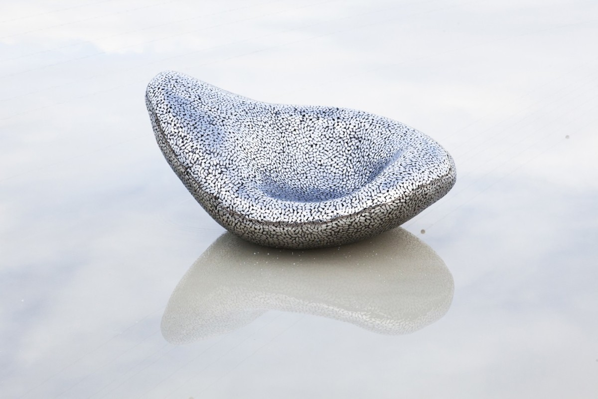 Magic Bean (mirror polished stainless steel ) is created by Kevin Oyen, a designer an artisan metalworker